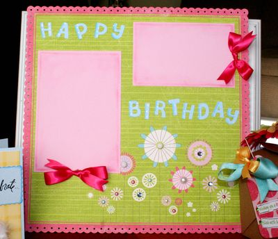 Blog birthday layout