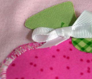 Baby onesie close up