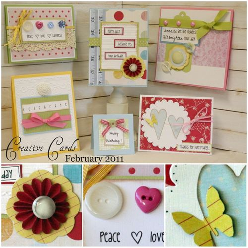 February 2011 cards colage with close ups