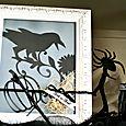Halloween card frame