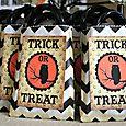 Halloween cards treat bags