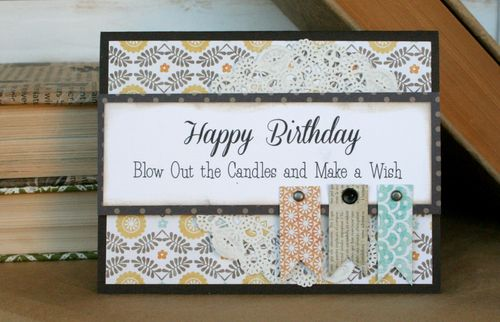 Happy bday flag cards