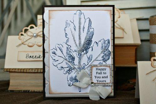 Fall leaf card