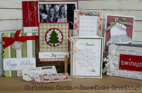 Christmas cards snowflake greetings