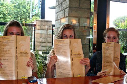 Homecoming menus