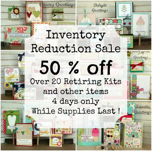 Inventory reduction sale collage