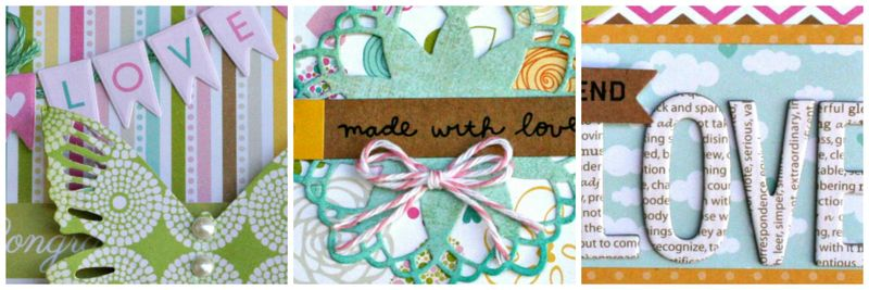 Scrapbook update love collage